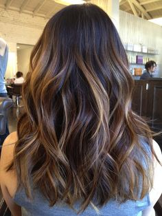 Hair colour - brown with caramel highlights