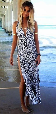Damask Maxi Dress. #textile