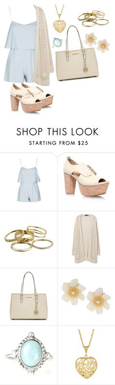 """rompers in BABY BLUE"" by salorah ❤ liked on Polyvore featuring Topshop, rag & bone, Kendra Scott, Violeta by Mango, MICHAEL Michael Kors and Lydell NYC"