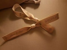 My friend had these at her wedding, like festival armbands