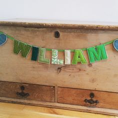💚WILLIAM💚 Personalised bunting , perfect for new baby gifts. Very quick turn around ✂️