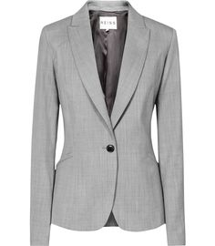 Womens Mid Grey Tailored Jacket - Reiss Tomley Arc