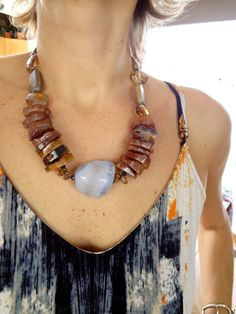 Big and Bold chunky agate large stone brown earthy by gBoutique