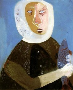 Grey-haired Fisherman, 1947 , by Margit Anna - Cd Paintings Her Style, Anna, Portrait, Grey, Paintings, Journal, Paint, Gray, Headshot Photography