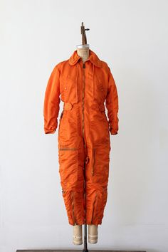 Vintage Flight Suit / Orange Coveralls / Coverall by 86Vintage86, $148.00