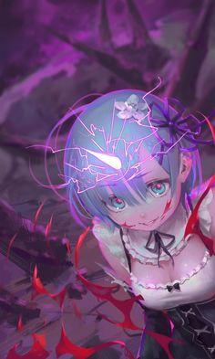 gore gorgeous_mushroom horns maid re_zero_kara_hajimeru_isekai_seikatsu rem_(re_zero) tagme Dark Anime, Kawaii Anime Girl, Anime Art Girl, Fanarts Anime, Manga Anime, Re Zero Wallpaper, Animé Fan Art, Anime Triste, Estilo Anime