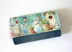 Peňaženka z rifloviny.
