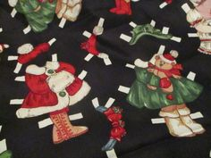 Fabric, Paperdoll Windham Fabric, Presents Paper Doll Christmas 21 x 42 # 30861 #WindhamFabric