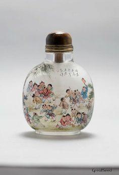 vintage and handmade insidepainted snuff bottle by GreatSeed, $600.00