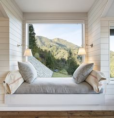 A wonderful reading and napping spot. Large window to a great view.