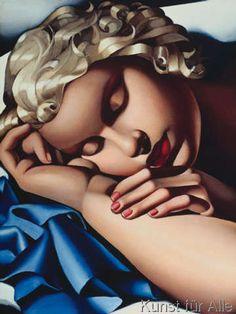 Tamara De Lempicka - La dormiente