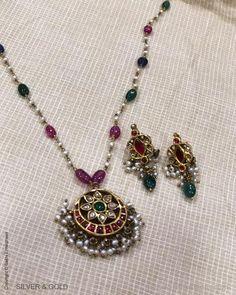 Antique Jewellery Designs, Beaded Jewelry Designs, Jewelry Design Earrings, Gold Earrings Designs, Gold Jewellery Design, Antique Jewelry, Real Gold Jewelry, Gold Jewelry Simple, Simple Necklace