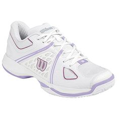 Wilson Women's Nvision Tennis Shoes White and Violet Ice * You can find more details by visiting the image link.