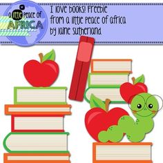 A Little Clip Art Freebie for all my followers - 3 color book lover images!