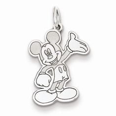 Sterling Silver Disney Waving Mickey Charm / Pendant