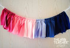 Gender Reveal Party Fabric Tie Garland