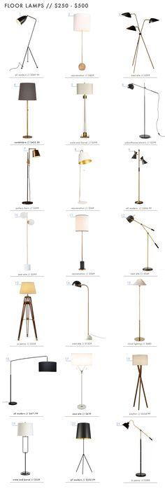 Very Stylish Floor Lamps between $250-$500