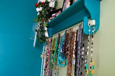 Quilt Hanger Turned Necklace Display [A little paint, and bam, it's a lovely way to display your necklaces!]