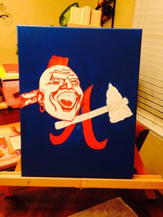 My unfinished Braves painting