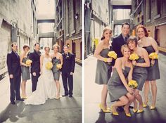 our gray and yellow wedding! love the colors