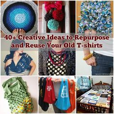 40+ Creative Ideas to Repurpose and Reuse Your Old T-shirts