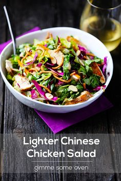 Lighter Chinese Chicken Salad | Gimme Some Oven