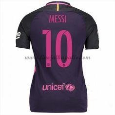 Jalkapallo Peliasut Naisten Barcelona 2016-17 Messi 10 Vieraspaita