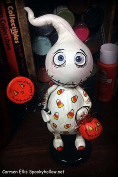 Boo Boo the ghost Halloween Grimmy art doll by SpookyHollow