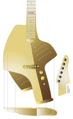 "Deadly Guitars ""Formula 001 - 2013"" prototype solid body hybrid piezo/magnetic - © bil andersen 2013"