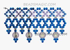 FREE Pattern for Beaded Necklace NEBULA | Beads Magic. Use: seed beads 11/0, round beads 4-6mm. Page 2 of 2