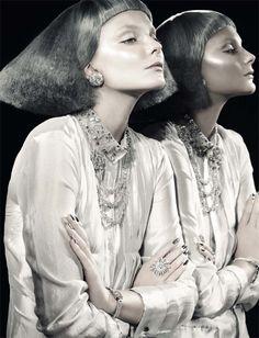 Eniko Mihalik | David Dunnan | Vogue Italia October 2012 |Glitter - 3 Sensual Fashion Editorials | Art Exhibits - Anne of Carversville Women's News
