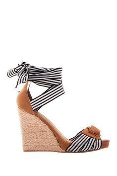 Stripes Lace Up Sandals
