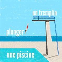 370 vind-ik-leuks, 3 reacties - LEARN FRENCH! (@le_francais_ensemble) op Instagram: 'Vocabulaire✅ • un plongeon {plɔ̃ʒɔ̃} - a dive || прыжок в воду • faire un plongeon • un plongeur *…'