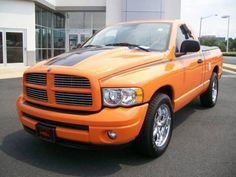 Orange Dodge Ram 2004 Dodge Ram Hemi Sport Parts - Trucks Image Gallery Ram Trucks, Dodge Trucks, Cool Trucks, Fire Trucks, Dodge Ram 1500 Hemi, Dodge Ram Pickup, Dodge Durango, Dodge Ram 1500 Accessories, Car Colors