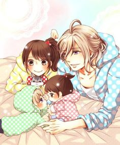 Ema, Louis, and kids. - Brothers Conflict - Aw...! <3