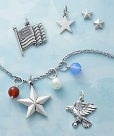 Patriotic #charms from #jamesavery