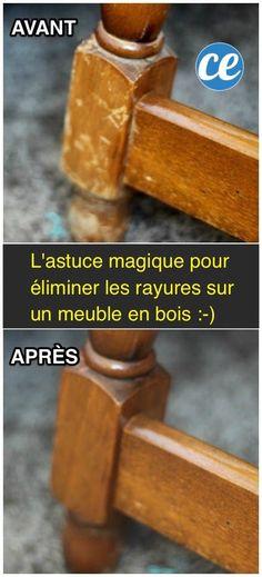 La méthode facile et pas cher pour enlever les rayures des meubles en bois