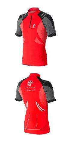 Team ICG Premium Red - High Performance Line: Cycling Jersey - optimale Vereinigung von Technik, Form und Funktion in Premium Qualität