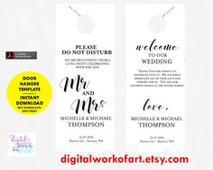 Door Hanger Template  Free  Premium Templates  Door Hanger