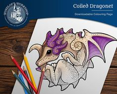 This coloring page was designed after an old sculpt of mine (which will be available soon as a pendant). Visit the shop for more coloring goodness!
