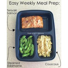 Diary of a Fit Mommy » Weekly Meal Prep: Teriyaki Salmon, Edamame, and Couscous