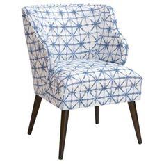 Check out this item at One Kings Lane! Kira Chair, Azure Shibori