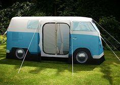 VW Volkswagen T1 Camper Van Adult Camping Tent - Blue