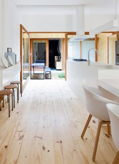 Image 5 of 24 from gallery of Renovation for a Two Storey House / Studio GGA. Photograph by Fran Parente New Interior Design, Home Interior, Interior Design Inspiration, Interior Architecture, Interior And Exterior, Cypress Pine, Two Storey House, Story House, Home Studio