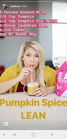 Pumpkin spiced lean latte shake Click the image for more info. Protein Powder Recipes, Protein Shake Recipes, Protein Shakes, Protein Smoothies, Fruit Smoothies, Pumpkin Shake, Magic Bullet Recipes, Pumpkin Smoothie, Weight Loss Smoothie Recipes