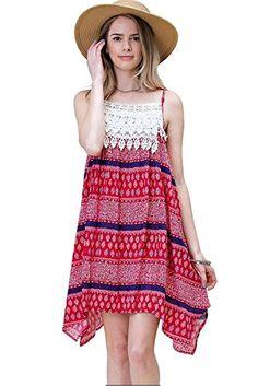 e4e9d9e30746 Amazon.com: Pink Queen®Womens Emoji Print Pleated Tank Dress Skater Dress  One Size Blue: Clothing