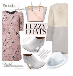 """Keep it Cozy: Fuzzy Coats"" by katyusha-kis ❤ liked on Polyvore featuring Yves Salomon, Dries Van Noten, Elorie, Valentino, rag & bone, WALL and fuzzycoats"
