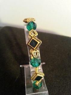 Deep Green Bracelet by BJDevine on Etsy