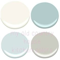 Benjamin Moore paints - Mountain Peak White, Gossamer Blue, Stonington Gray, Ocean Air
