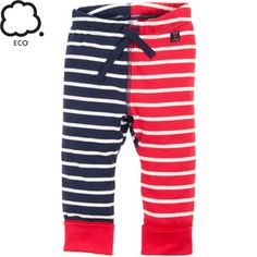 STRIPES GALLORE ECO NEWBORN PULL ON PANTS